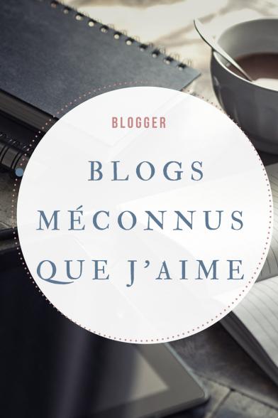 Blogs méconnus que j'aime