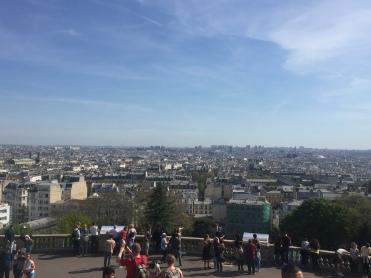 Vue depuis la Basilique du Sacré-coeur de Montmartre